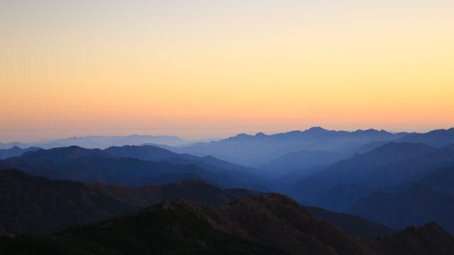大台ケ原からの夕景