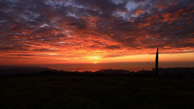 大台ケ原正木峠からの日の出