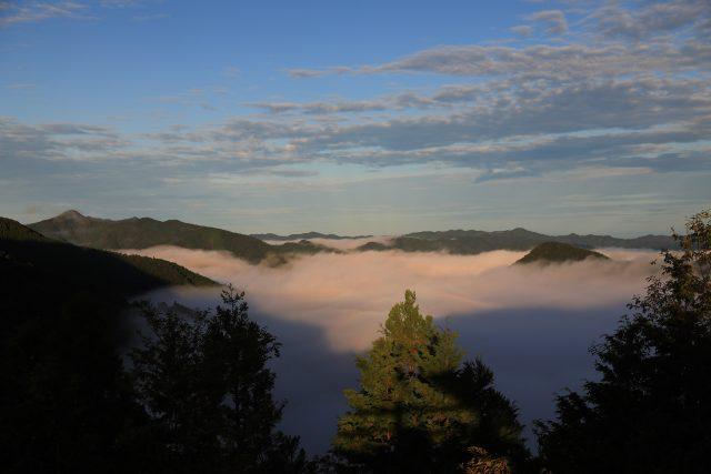 朝陽を浴びる雲海